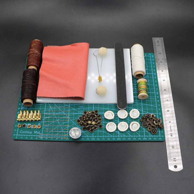 69pcs/set Professional Leather Craft Tools Hand Sewing