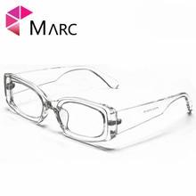 MARC 100%UV400 WOMEN MEN 2018NEW Brand Rectangle Eyewear Plastic Design Transparent Clear Trendy Sunglasses Gafas Oculos Resin