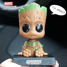 12CM Evade Glue Guardians of The Galaxy Vol Groot Action Figure Shaking His Head Doll Car Furnishing Articles Model Holiday Gift(China)
