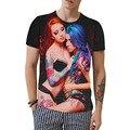 B6 Unisex Funny 3d Sexy Tshirt Men Novel T-shirt Naked tattoo Girl Printed For Man/Women  Creative T Shirt Cotton Camisetas