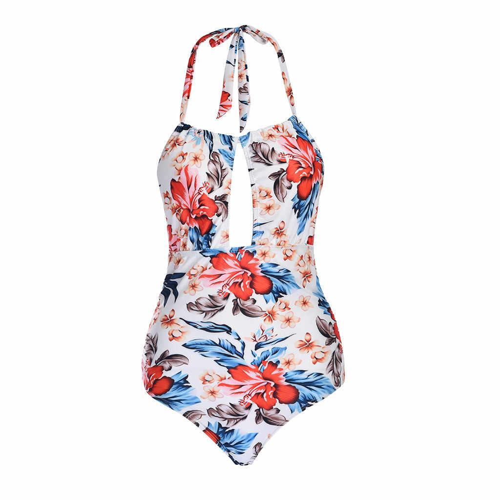 女性のワンピース水着痩身水着背中の V ネック水着 Swimware 大サイズ水着プリント Biquinis ビーチウエア