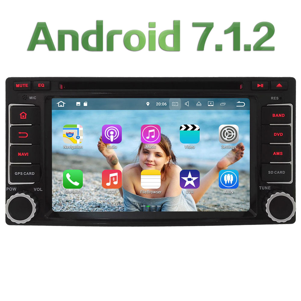 2GB RAM Android 7 1 2 Quad Core DAB BT Car Multimedia DVD Player Radio GPS