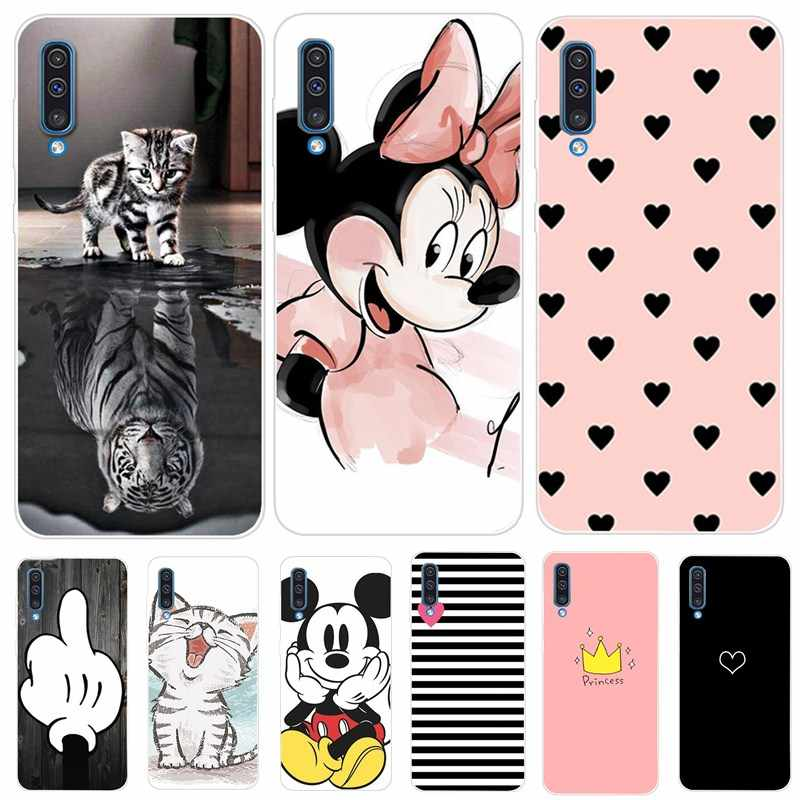 Cute Case For Samsung Galaxy A50 A505 A505F A30 A305F A305 A 30 2019 Silicone Soft Back Cover For S10e Plus A7 2018 Note 9 Funda