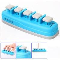 도매 배 블루 피아노 전자 키보드 손 손가락 연습기 인장 훈련 트레이너