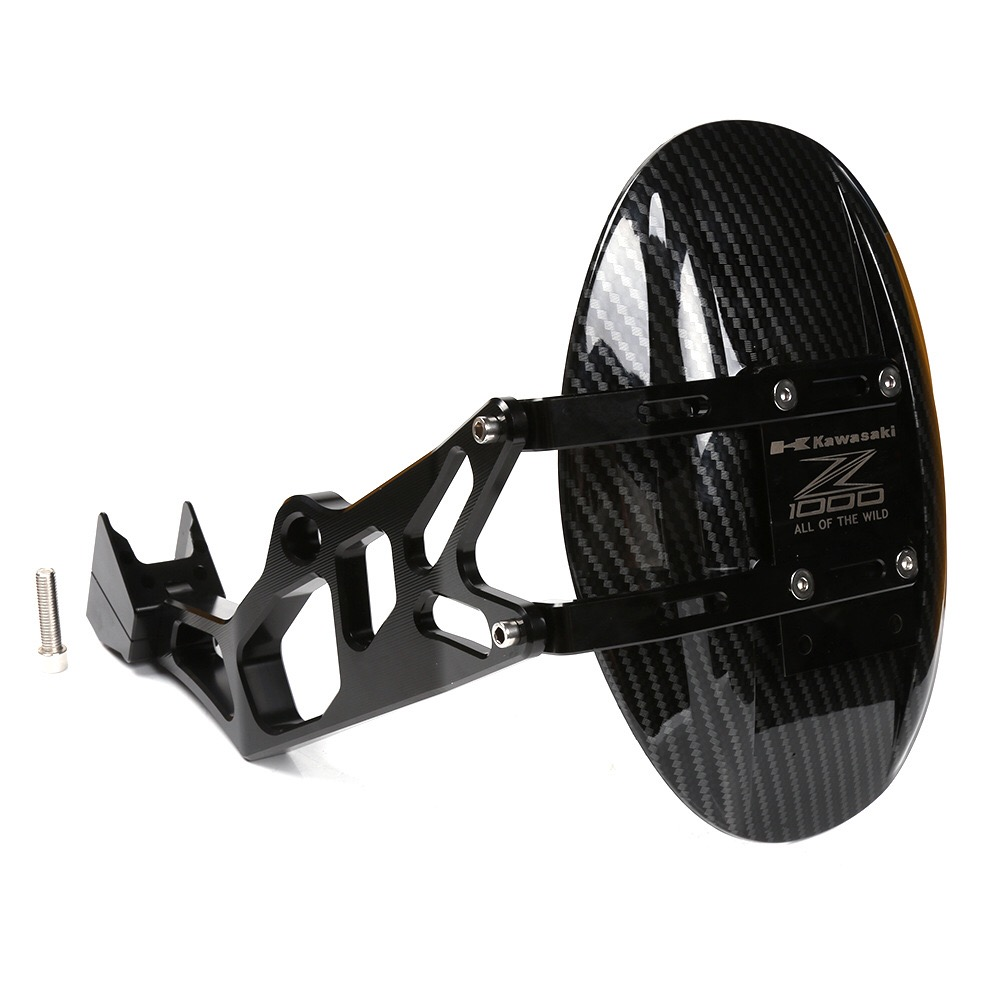 Image 2 - Rear Wheel Tire Fender Rear Fender Bracket Mudguard Splash Mud Dust Guard Fender Shield Carbon For Kawasaki Z1000 2010 2016