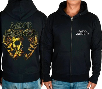 Amon Amarth Rock hoodies autumn jacket  heavy metal zipper sweatshirt fleece skull XXXL