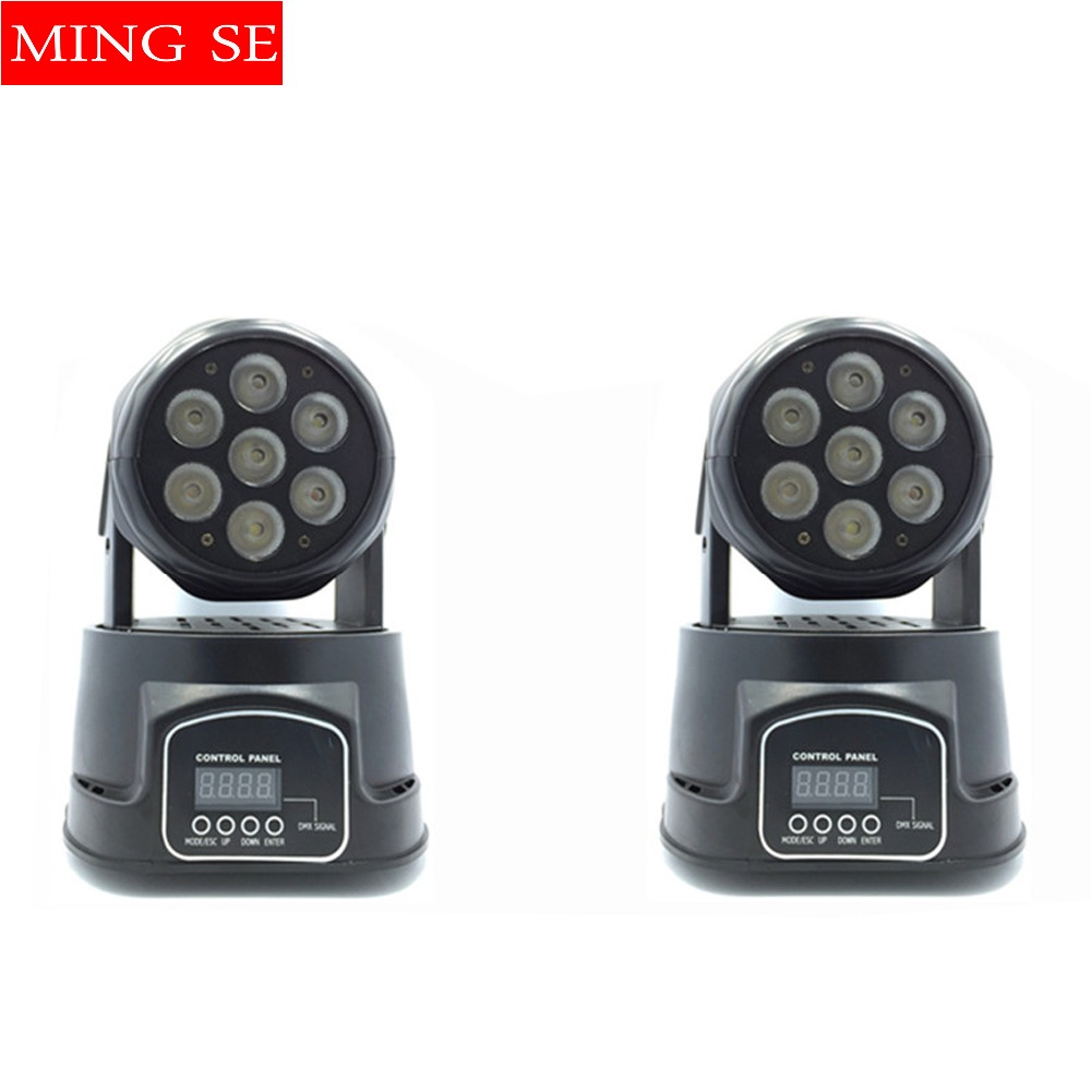 цена 2pcs/lots CREE 7x12W RGBW quad mini led wash moving head light LED stage lights Mini LED Moving Head 14 channels