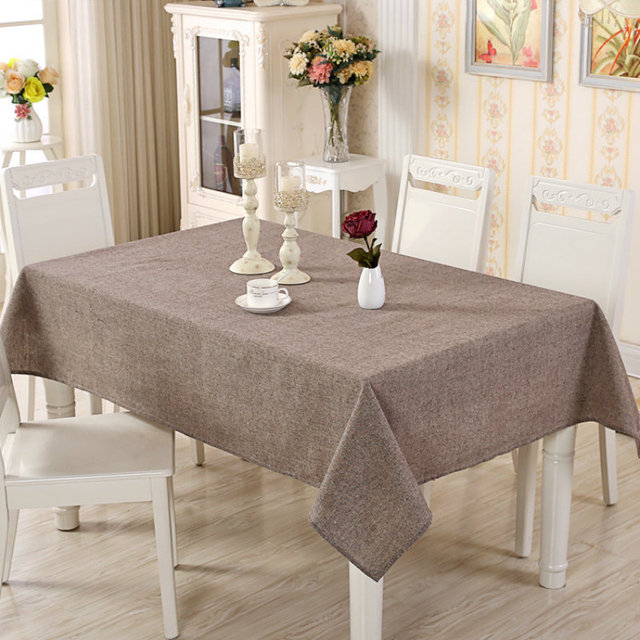 Modern Simple Dyed Solid Color Cotton And Linen Tablecloths Tablecloths  Rectangular Fresh Tablecloths Coffee Table Cloth