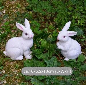 Image 3 - Figuritas de conejo de resina para decoración de jardín, patio de arte al aire libre, adorno de figuritas de animales para jardín