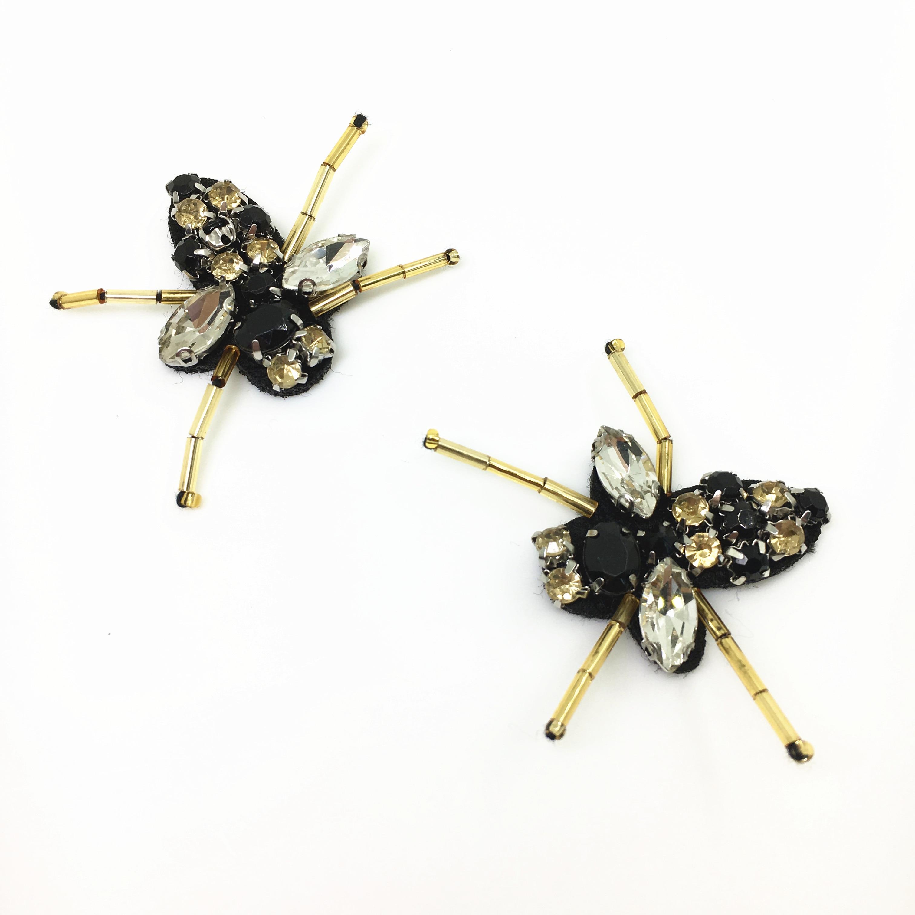 20pc Sy på Beaded Patch Crystal Bee Applique Patches För Klädskor - Konst, hantverk och sömnad - Foto 5