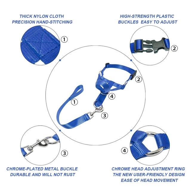 Nylon Testa Cani Collare di Addestramento Del Cane Halter Blu Rosso Nero Colori Ml XL XXL Taglie
