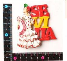Sylvia dancing girl Features travel fridge stickers