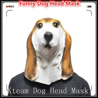New Animal Full Head Latex Party Dog Mask Halloween Dance Party Costume Wolfhound Dog Head Masks Toys Fancy Dress Festival Gift