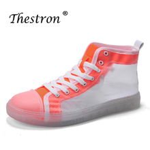 Hot Men Canvas High Top Sneakers Fashion Vulcanized Man Shoes Wearable Young Casual Comfortable Flats