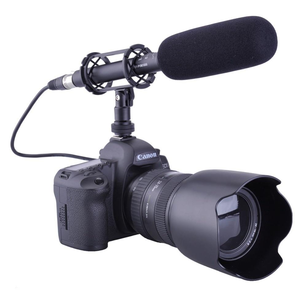 BY-PVM1000 Shotgun Microphone 3-pin XLR Output on DSLR Condenser Microphone original new for nihon kohden pvm 2700 pvm 2703 pvm 2701 sb 201p x076 monitor rechargeable battery 12v 3700mah free shipping