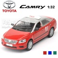 High Simulation Exquisite Baby Toys ShengHui Car Styling TOYOTA Camry TAXI Model Decoration 1:32 Alloy Car Model Excellent Gifts