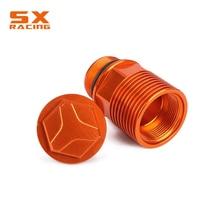 цена на Motorcycle Orange Rear Brake Fluid Reservoir Extension With Cap For KTM SX EXC XC XCW XCFW EXCF 125 150 200 250 350 450 525 530