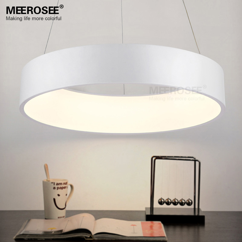 Modern LED Pendant Lights Fixture LED Acrylic Lustres Lamp LED White suspension lamp Stair Ring Lights Fast Shipping easy fast fixture fast fixture clamp bolt clamps y40371 40371