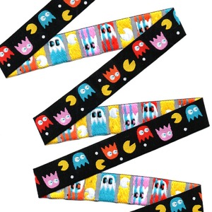 """Image 2 - 2014 NEW wholesale 5/8""""+7/8""""(16mm+22mm 20y/lots) Polyester Woven Jacquard Ribbon For Dog Collar demon/Pac Man"""