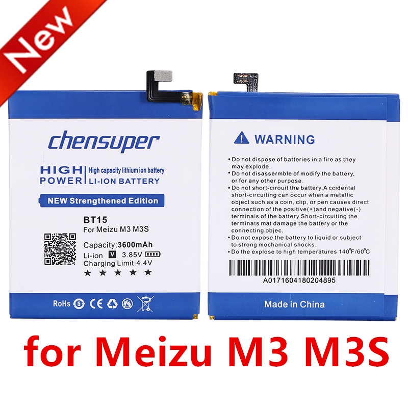 2PCS/NEW 3600mAh BT15 Battery Replacement for MEIZU M3S Battery m3 s Battery With free repair tools(China)