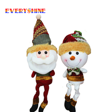 2017 New Arriveal 1x Christmas Decorations Santa Claus & Snowman Figurines Christmas Gifts for Children Indoor Decor Doll SD167