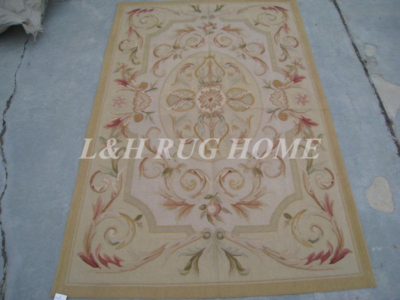 Free Shipping 4 X6 French Woolen Aubusson Rug Handmade 100 New