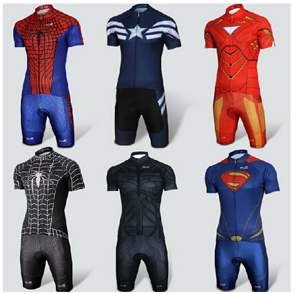Cool Superhero Cycling Wear Iron Man Batman Superman Captain