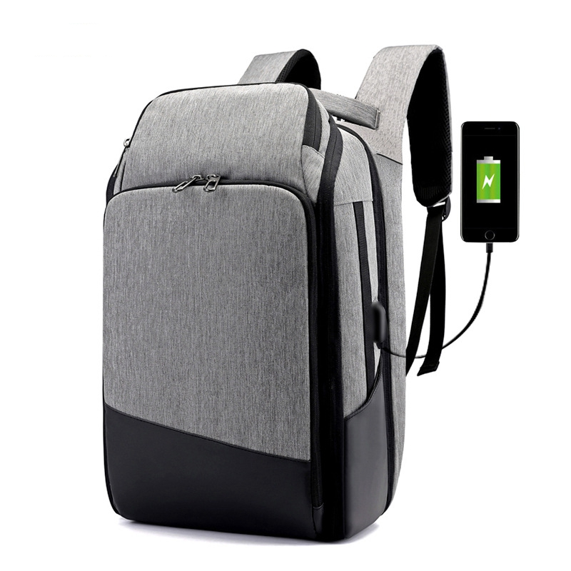 Hommes haute capacité 17 pouces ordinateur portable affaires sac à dos multifonction USB charge sac de voyage unisexe décontracté école sacs à dos