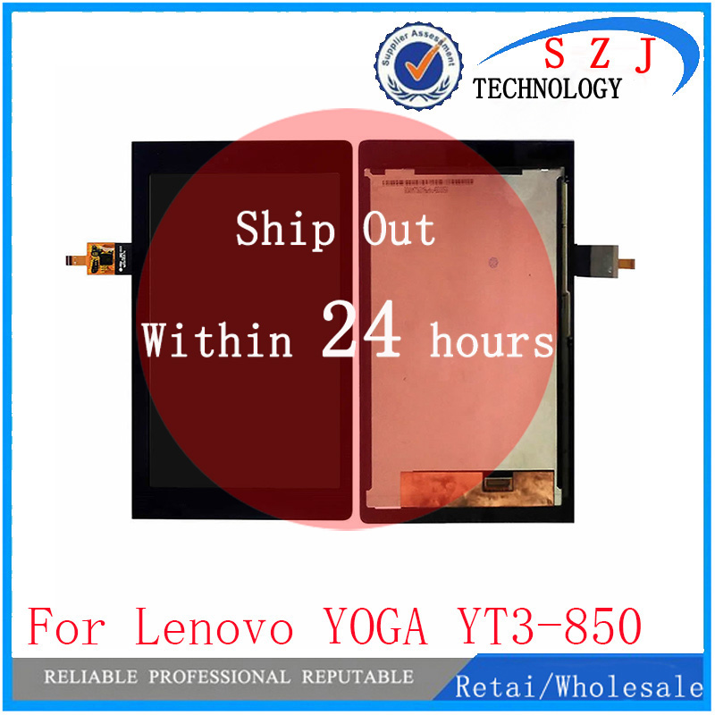 New 8 inch Tablet PC protection For Lenovo YOGA YT3-850M YT3-850F YT3-850 LCD Display With Touch Screen Digitizer Assembly for lenovo miix 2 8 tablet pc lcd display touch screen digitizer replacement with frame