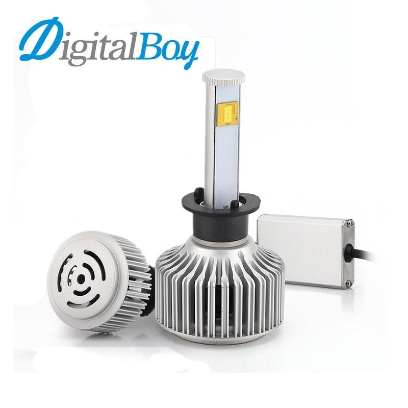 ФОТО Digitalboy LED Headlight H1 80W 7200LM Super Bright 6000K White Light Car LED Headlamp Conversion Kit Automobile Car Front Light