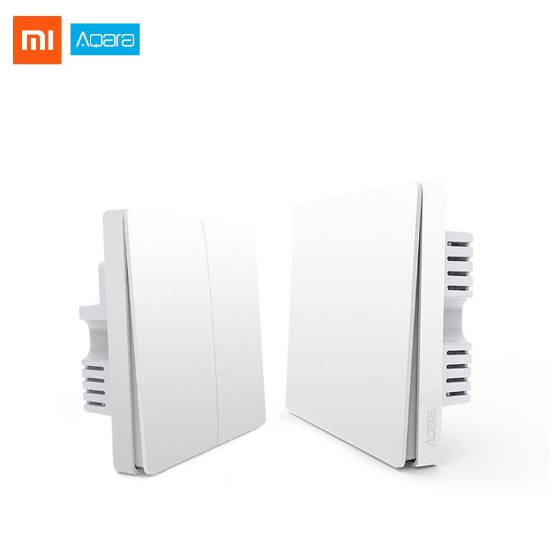Xiaomi Aqara Smart Home Light Switch Zigbee Wireless Wall Switch Via Mi Multifunctional Hub Mijia APP Remote Control Home Kit