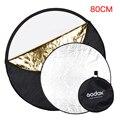 Godox 5 en 1 portátil plegable redonda 80 cm iluminación de la cámara de fotos del disco reflector difusor kit maletín
