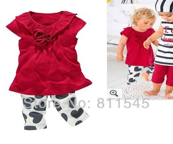 Милый корова Infantil девочка одежда комплект T рубашка + дети брюки 2 частей младенцы костюм новорожденного одежда малыша одежда