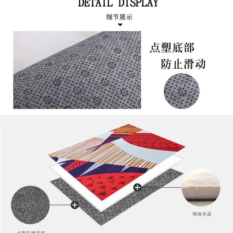 Personnalité pastorale tapis mosaïque chambre d'enfants tapis rose salon chambre chevet tapis table basse tapis de sol bébé maison tapete - 6