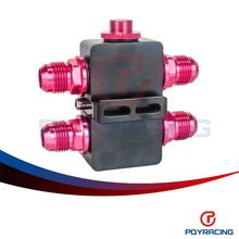PQY RACING Free shipping Oil Filter Sandwich Adaptor With In Line Oil Thermostat AN10 fitting Oil