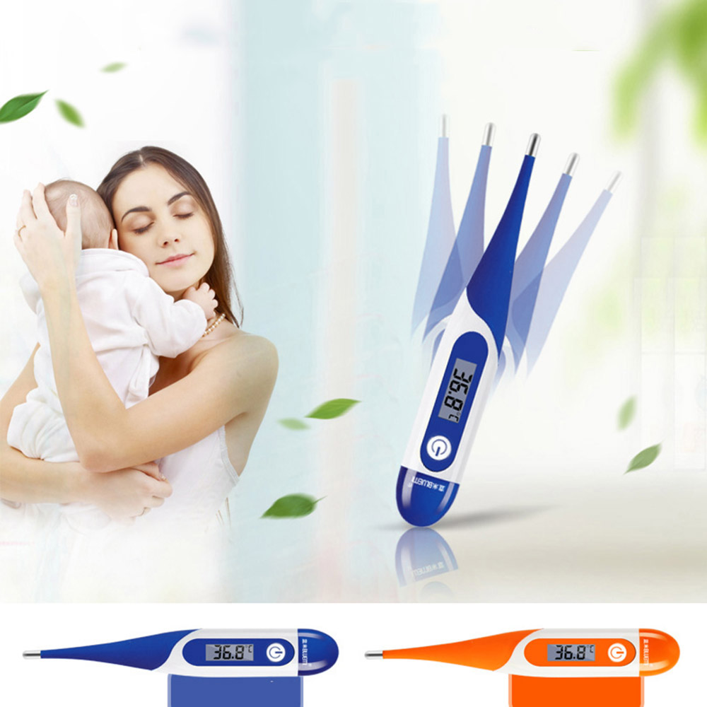 Fast Read Baby Digital Thermometer with LCD Display for Oral Rectal & Axillary
