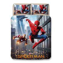 Spiderman 3D printed bedding set duvet cover bedclothes bed linen Marvel Comics Super hero comforter sets Pillowcases