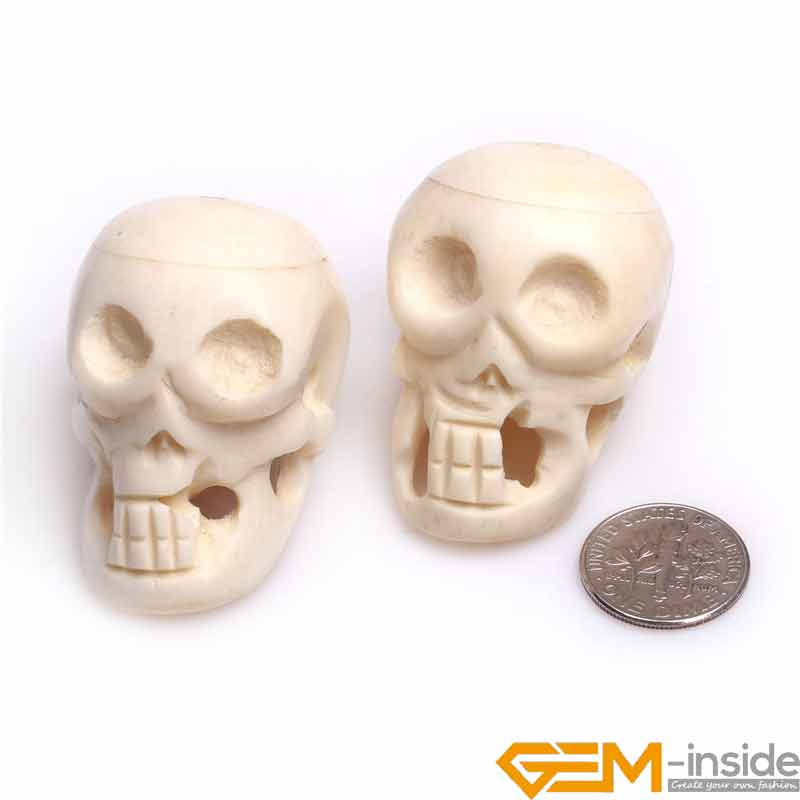 33x42mm Big Large Carved Bone Skull Beads Diy Beads For Jewelry Making Bulk 2 Pcs To Sale Wholesale Beads Aliexpress