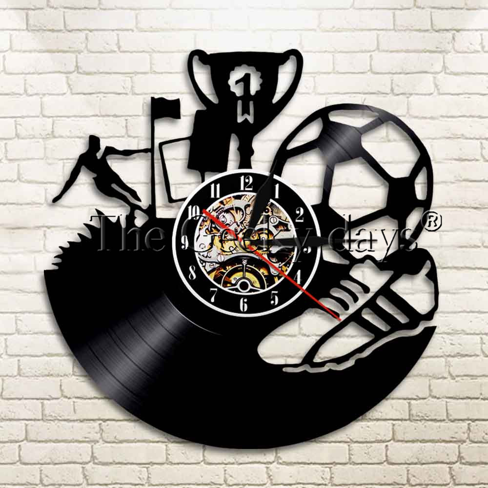 Buy football wall clock and get free shipping on aliexpress amipublicfo Choice Image
