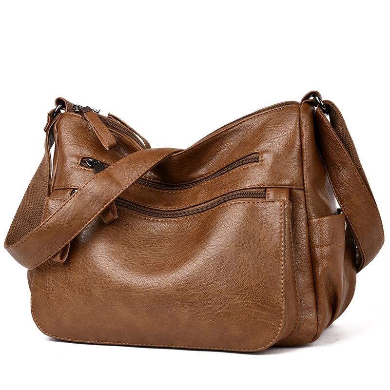 Tote-Bags Messenger-Handbags Hand-Bolsa Female Leather Women Casual Lady Feminina C769