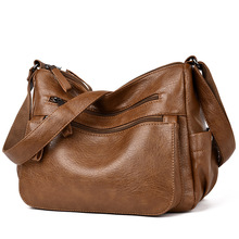 Leather Women Casual tote bags Top Hand bag