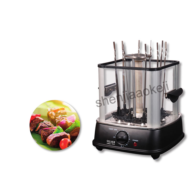 Four électrique intérieur sans fumée barbecue cuisinière automatique rotatif barbecue barbecue machine agneau kebab machine 220 v - 5