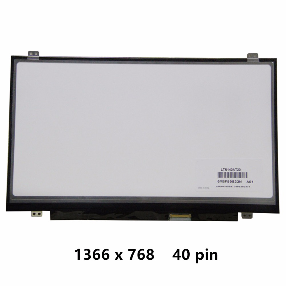 New 14'' HD Slim LCD Screen Display Panel Matrix Replacement For Lenovo IdeaPad U410 S400 S405 S400 S405 U410 1366 x 768 40 pin ulgran u 405 sand