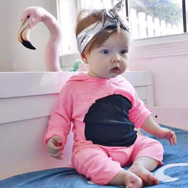 d05e6bb84ec8 2018 Autumn Baby Rompers Boys Girls Long Sleeves Jumpsuit 100% Cotton Infant  Romper Newborn pink cute Fashion baby girl Clothes-in Rompers from Mother  ...