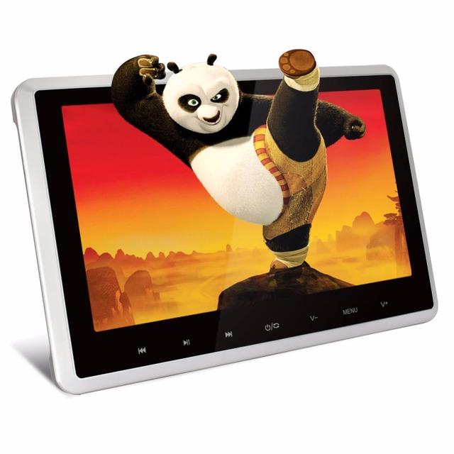 Pumpkin 10 polegada tela de lcd digital hd monitor de encosto de cabeça do carro 1024*600 usb/leitor de sd ir/fm hdmi no carro dvd player 1080 p