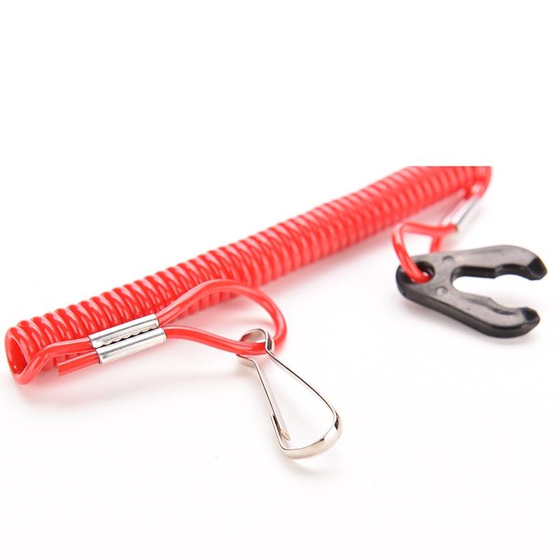 Струйный красный 1 шт. лодочный подвесной мотор для мотора, ремень, аварийный стоп-переключатель, страховочный трос для