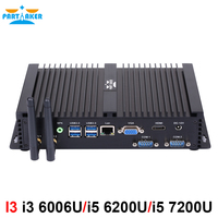 Intel Core i3 6006U i5 6200U i5 7200U Mini PC Windows 10 Barebone компьютер 2 ГГц 520/620 Графика 4 К HTPC minipc HDMI VGA 2 COM