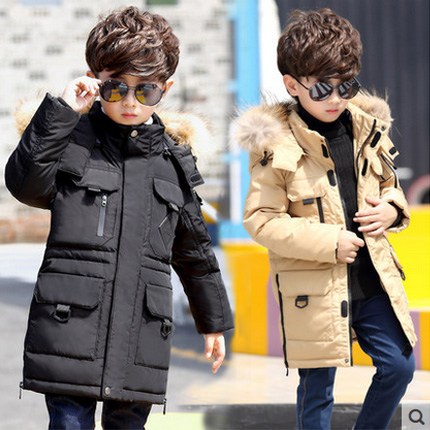 -40 degree childrens winter jackets cotton-padded fur fashion teenage boy big boys warm winter down coat thickening outerwear