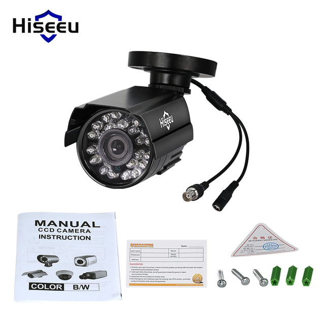 Metal Case CCTV Camera analog 800TVL 1000TVL Day/Night Vision mini Outdoor IP66 Waterproof Bullet Camera for cctv system hiseeu
