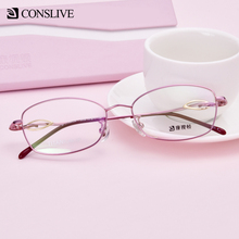 Оправа для очков из чистого титана, женские офтальмологические очки, прозрачные линзы, оправы для оптических очков F3056